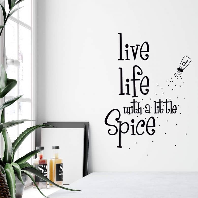 Live Life with a Little Spice Wall sticker