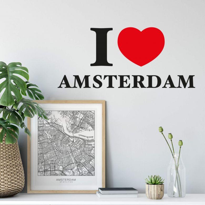 Wandtattoo I love Amsterdam