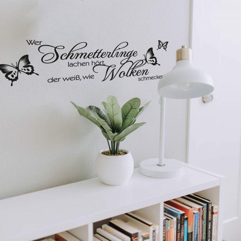 Wandtattoo Wer Schmetterlinge Lachen Hort Wall Art De