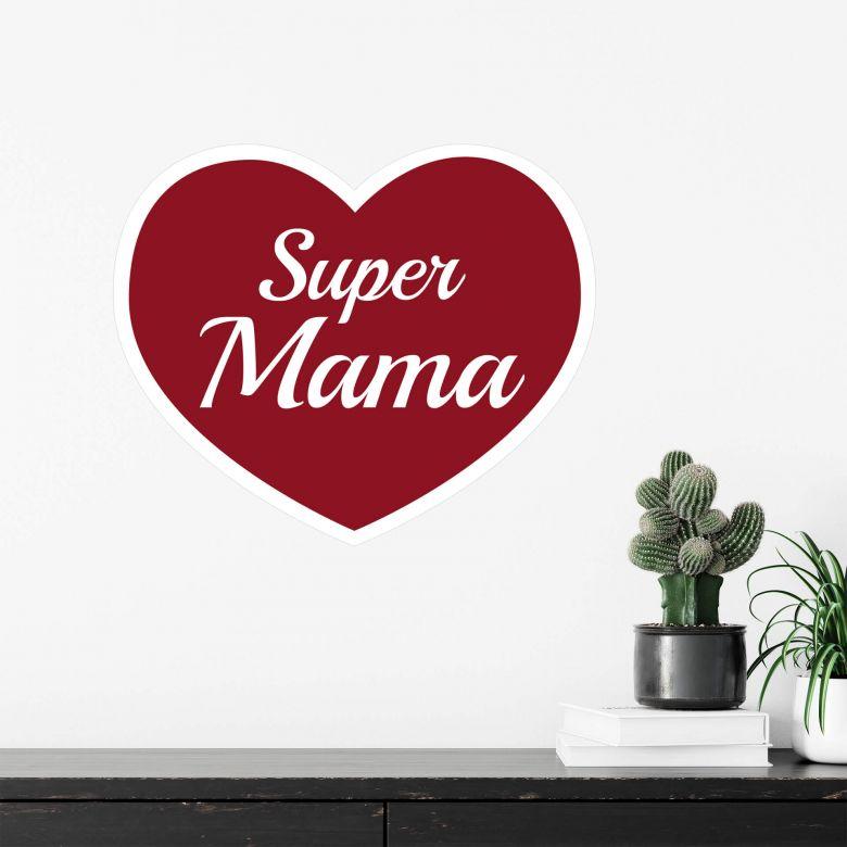 Wandtattoo Super Mama bordeaux