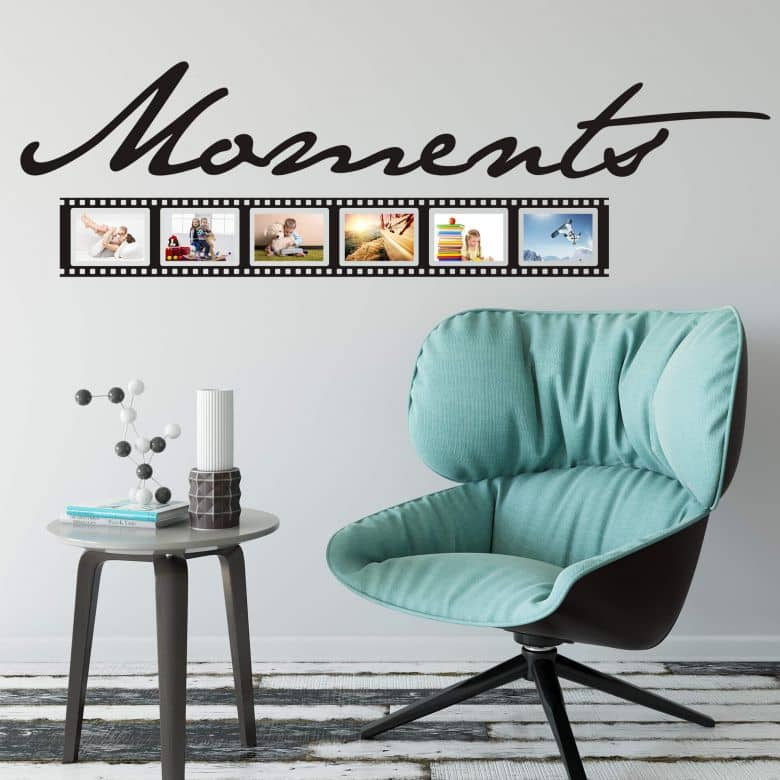 Moments Wall sticker with room for pictures