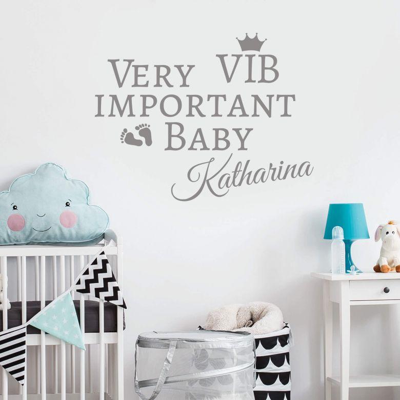 Muursticker Very Important Baby