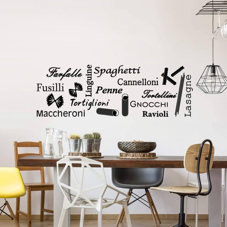 Sticker mural Sortes de pâtes 2