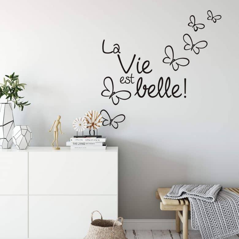 La vie est belle! Wall sticker