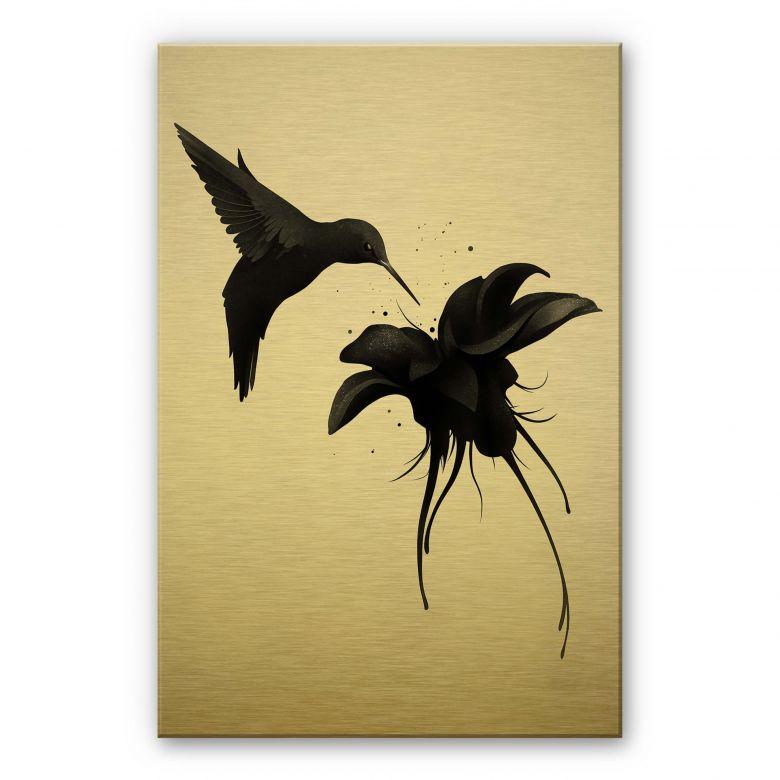 Alu-Dibond gold effect - Ireland - Hummingbird