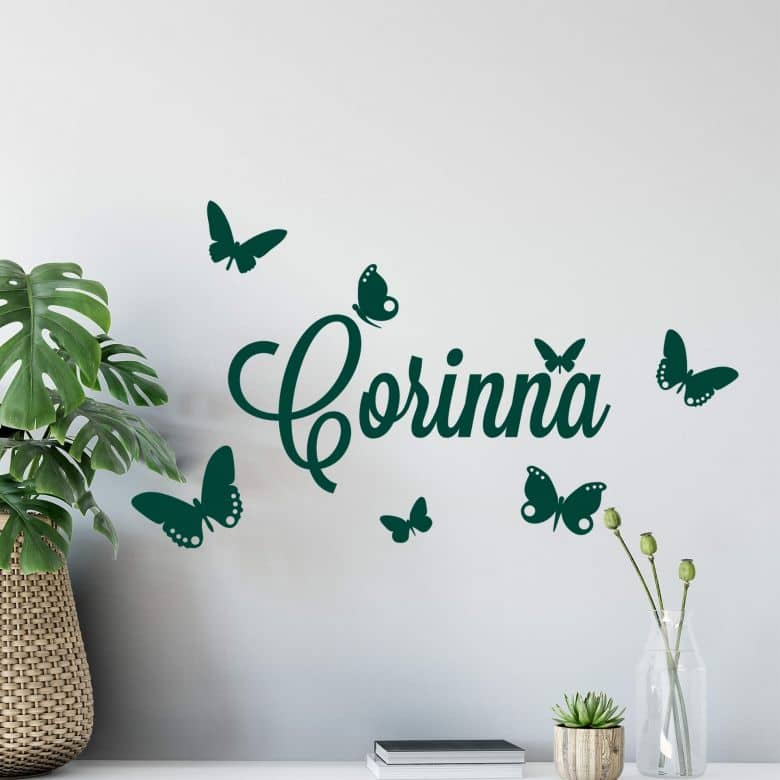 Butterflies 2 + Name Wall sticker