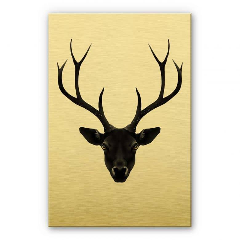 Alu-Dibond gold effect - Ireland - Black Deer