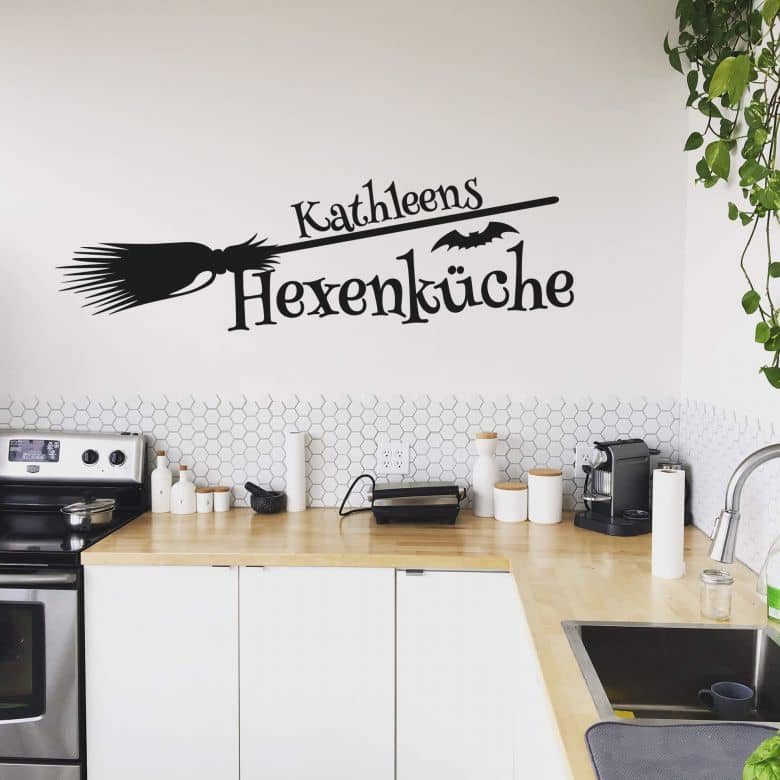 Wandtattoo + Name - Hexenküche