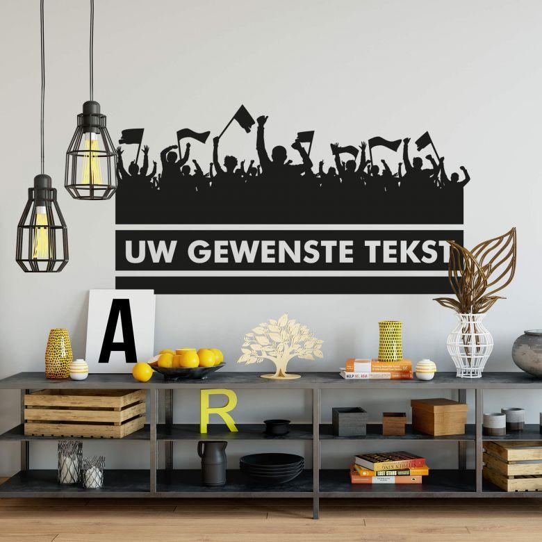 Wandtattoo + Wunschtext Fans