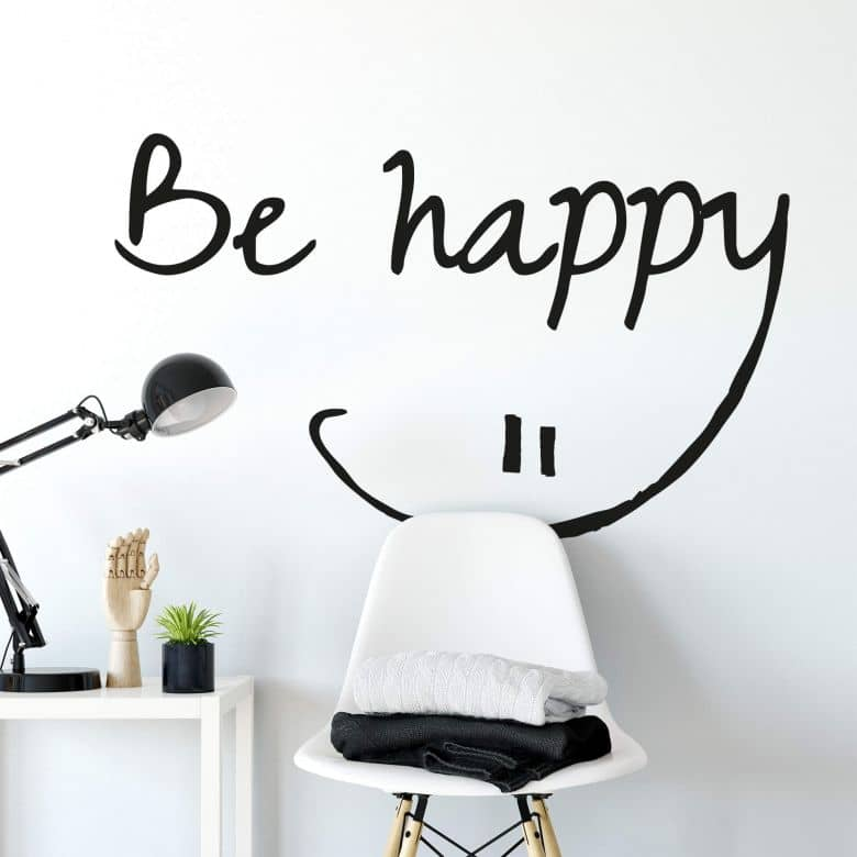 Sticker mural - Be happy