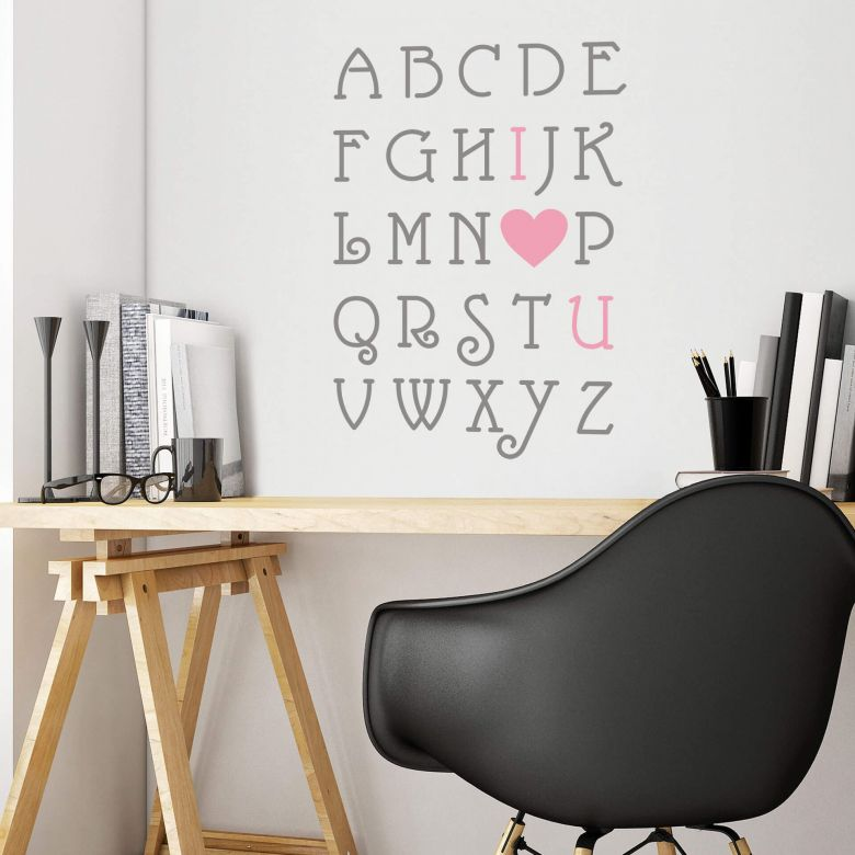 Love Alphabet (2 colours) - Wall Sticker