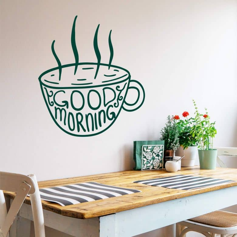 Good Morning Cup - Wall Sticker