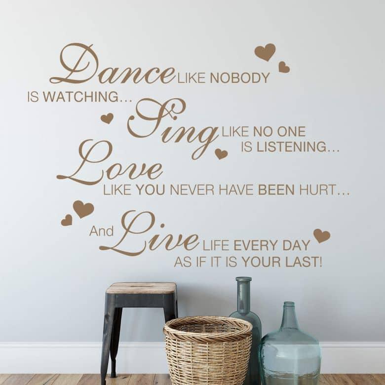 Dance like nobody... Wall sticker