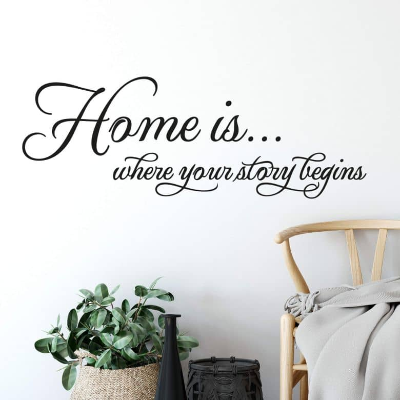Sticker mural - Home is where your story begins.
