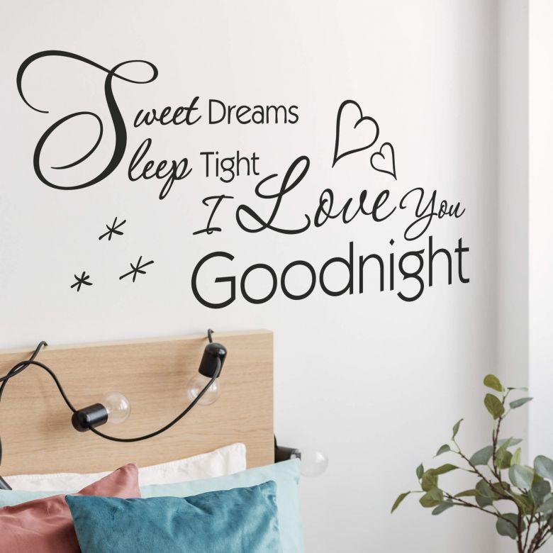 Adesivo murale -Sweet dreams, sleep tight...