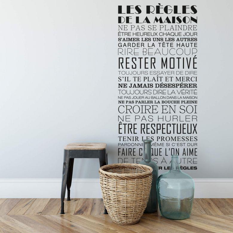 Règles de la maison Wall sticker