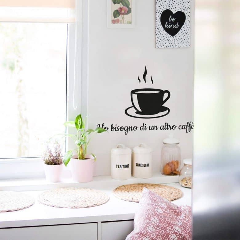 Sticker mural -Ho bisogno di un altro caffè