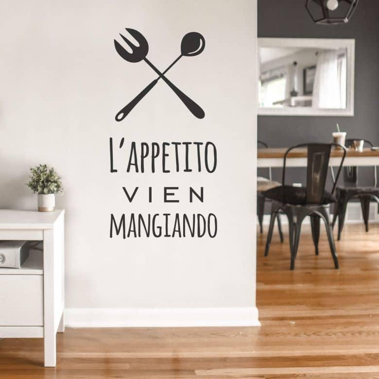 Muursticker L Appetito Vien Mangiando Wall Art Nl