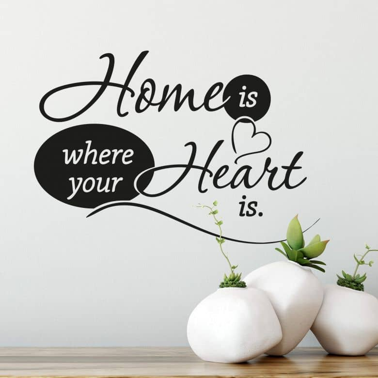 Home is where your heart is.. Wall Sticker