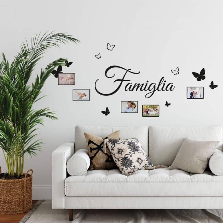 Sticker mural -Famiglia mit Platz für Fotos