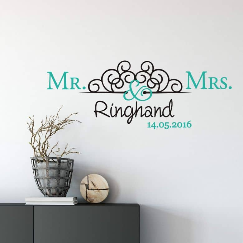 Name + Date  Mr. & Mrs. 02 (2 colours)