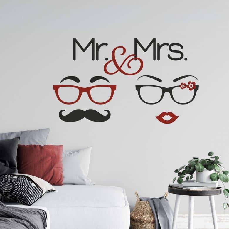 Sticker mural - M. et Mme Hipster