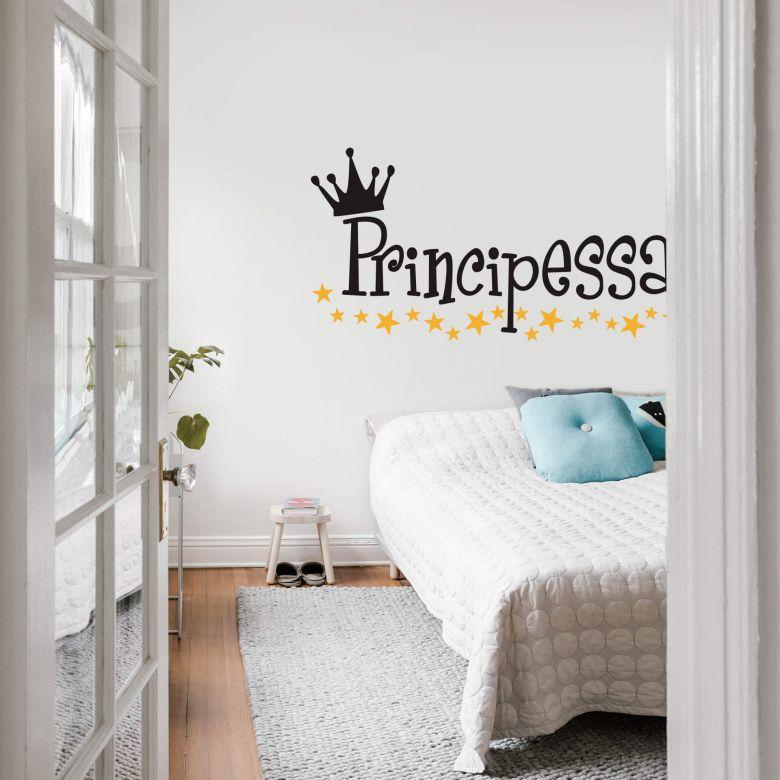 Adesivo murale Principessa (bicolore)