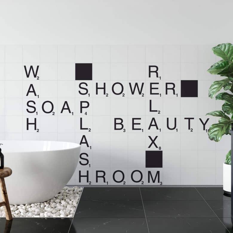 Sticker mural Wortspiel Bathroom
