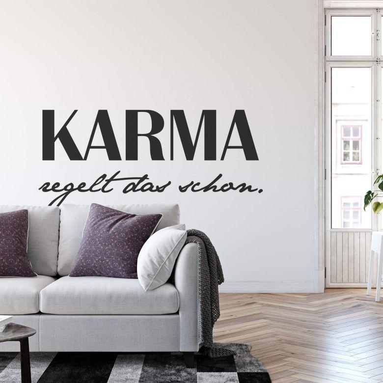 Wandtattoo Karma regelt das schon