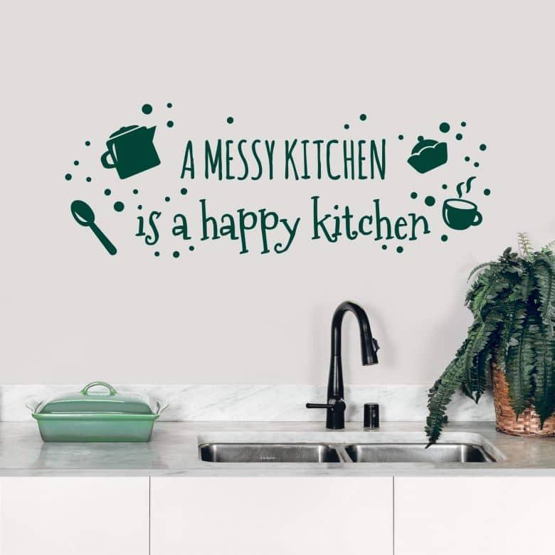 Wandtattoo A messy kitchen