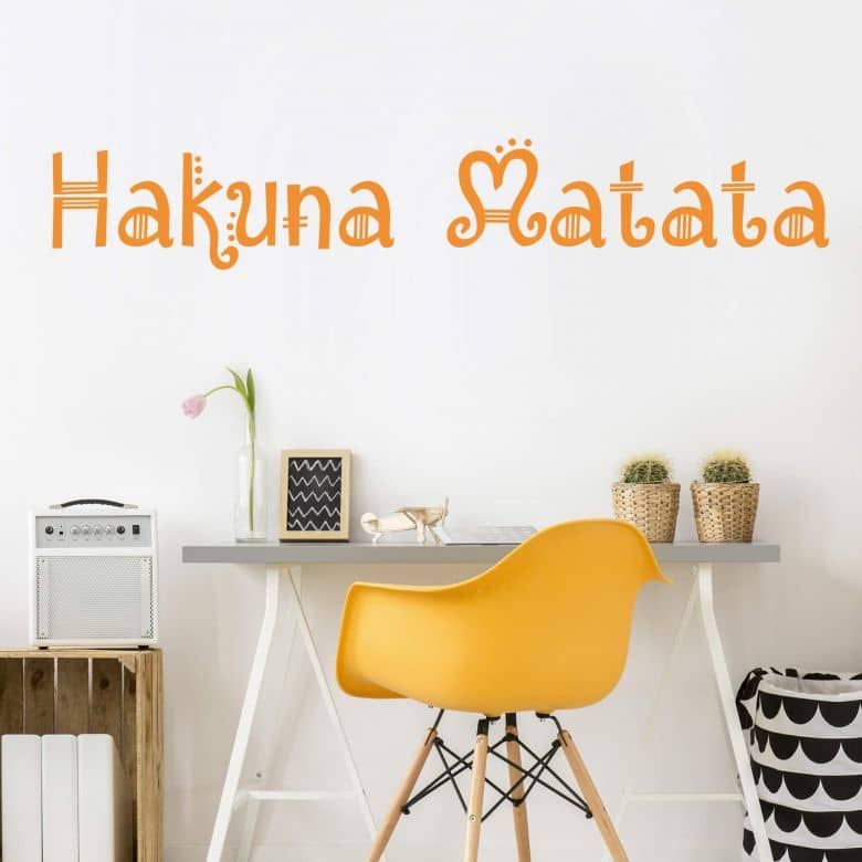 Wall sticker Hakuna Matata 05 | wall-art.com