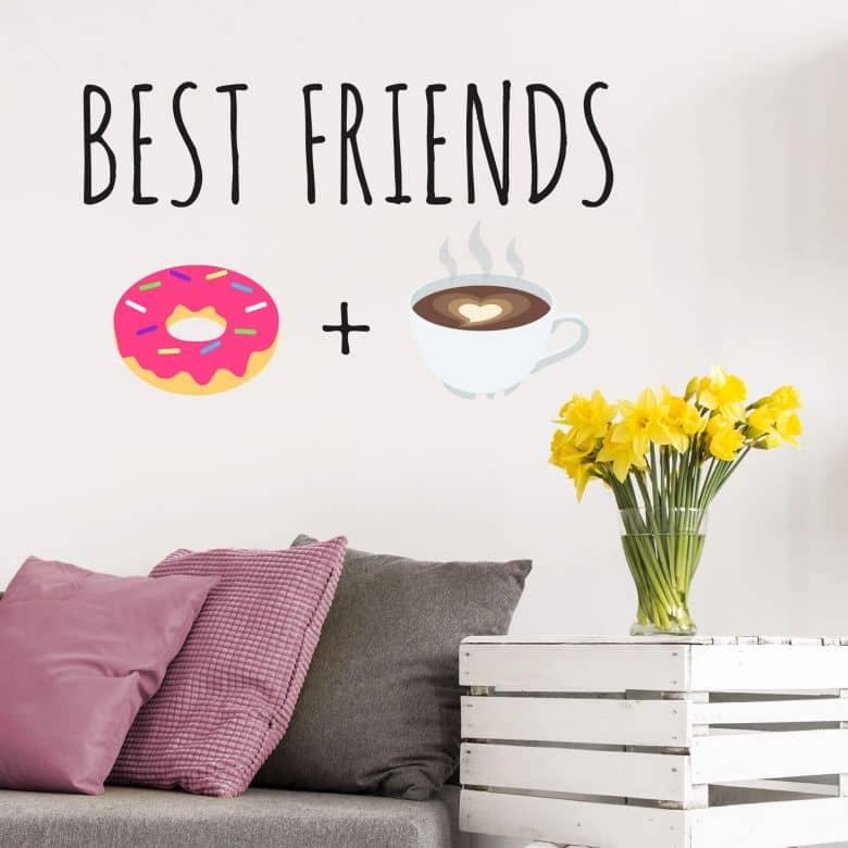 Wandtattoo Emoji Best Friends 3
