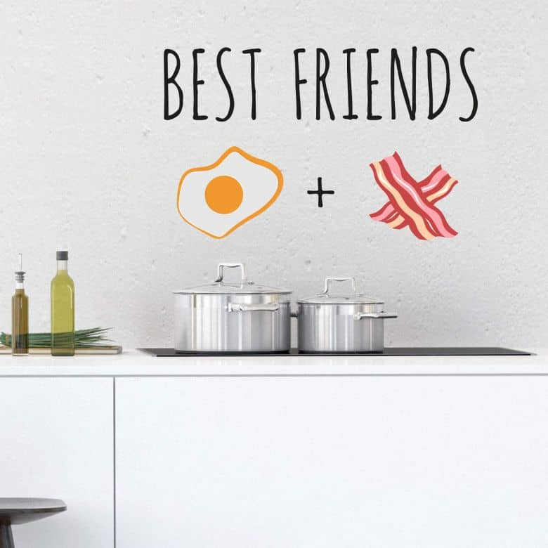 Wandtattoo Emoji Best Friends 4