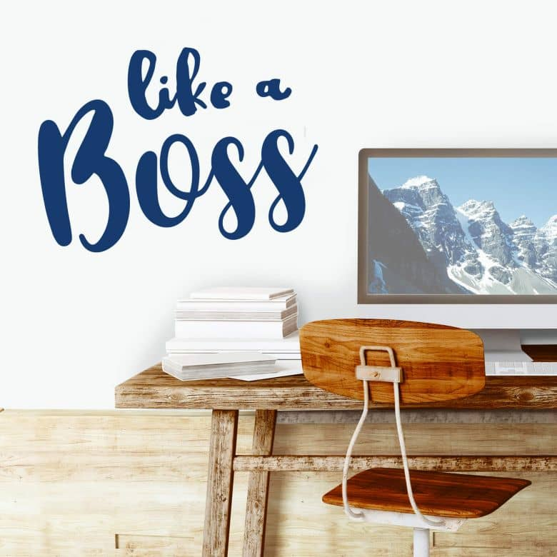 Sticker mural - Like a Boss