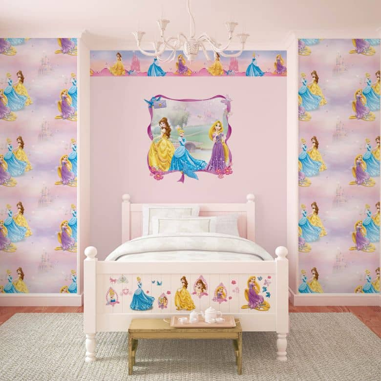 Adesivo murale - bordo decorativo- bella come una principessa