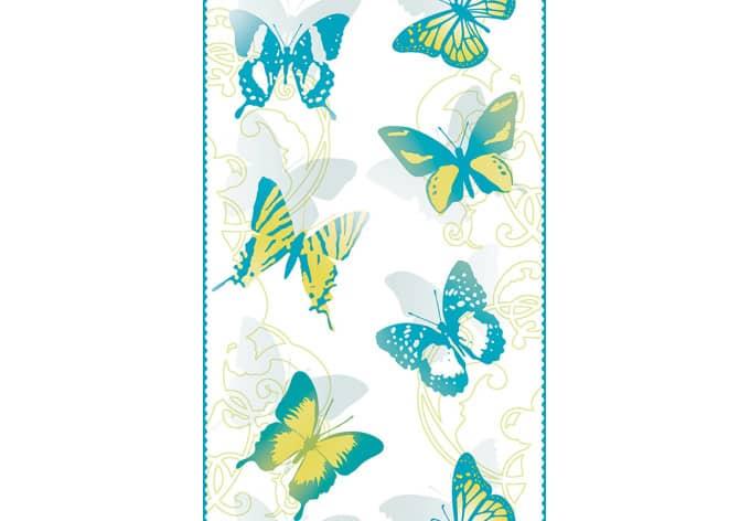Panneau décoratif Livingwalls pop.up Panel bleu, jaune, blanc