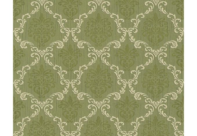 Architects Paper Textiltapete Tessuto Barocktapete mit Ornamenten grün