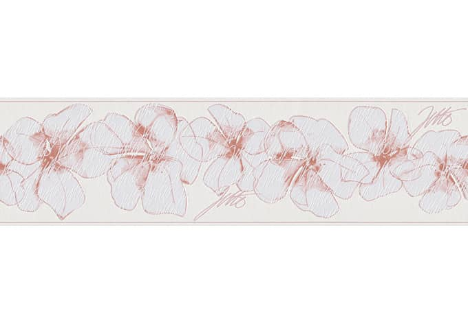 Livingwalls Wallpaper Jette 3 Pink, White