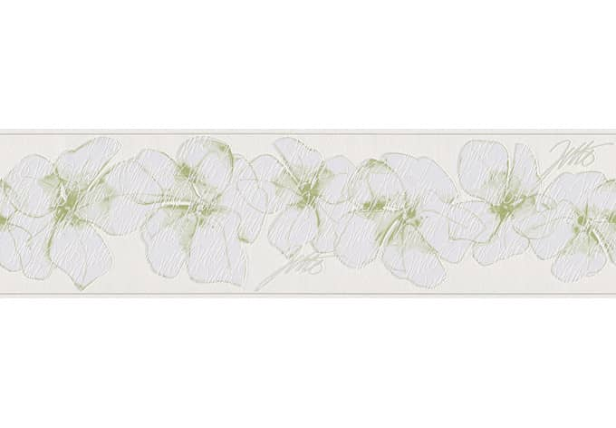 Bordo decorativo Livingwalls Jette 3 colore verde, bianco