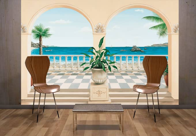 Terrace Provencale - Photo Wallpaper