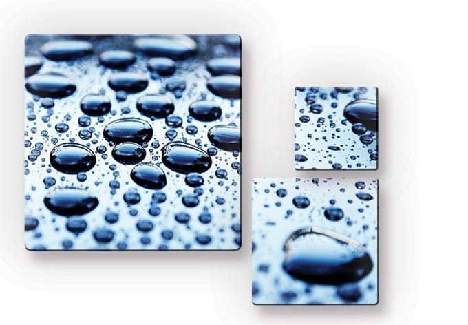Glasbild Waterdrops (3-teilig)