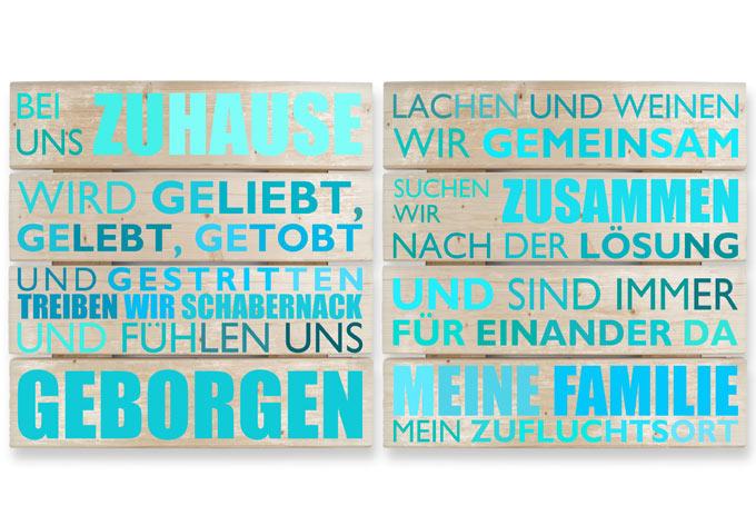 Holzbild-Set mit Schriftzug - Wunderschöne Wandbilder von K&L Wall ...
