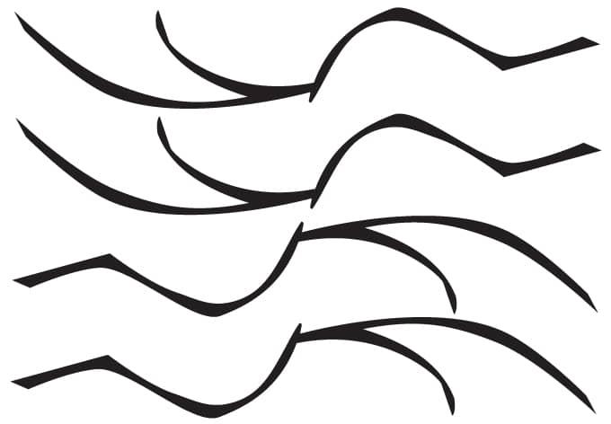 Adesivo murale - Set di rami 3