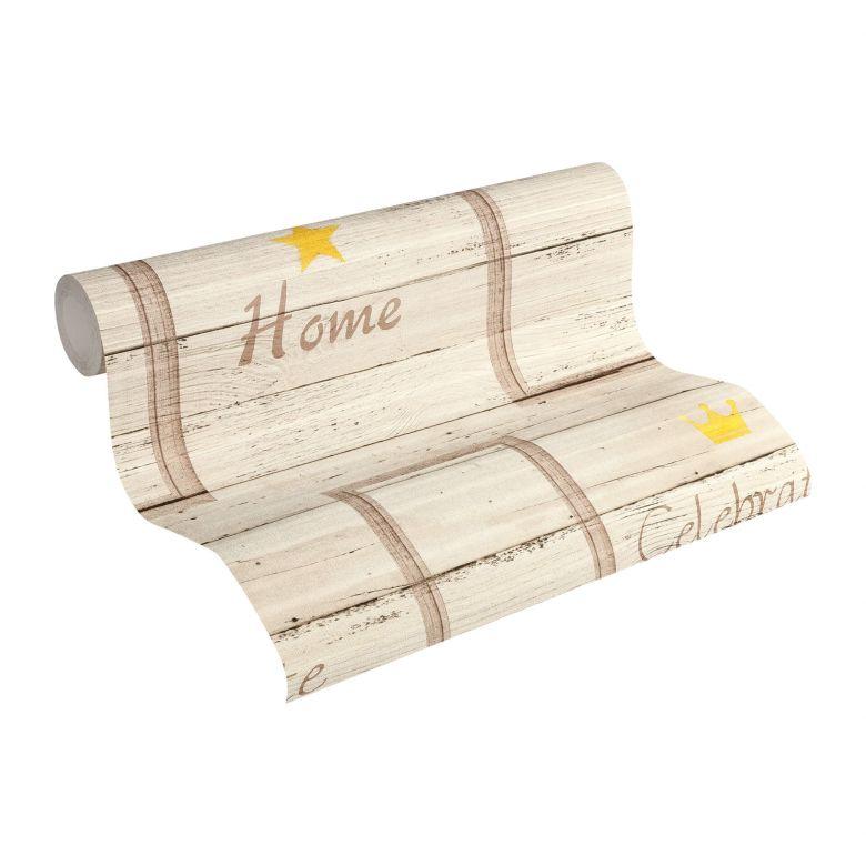 A.S. Création Holzoptik Tapete Côte d`Azur braun,creme, gelb