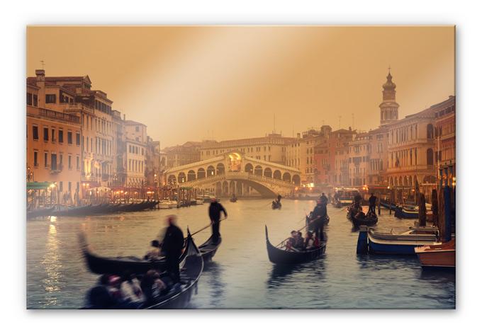 Acrylglasbild Sunset in Venice