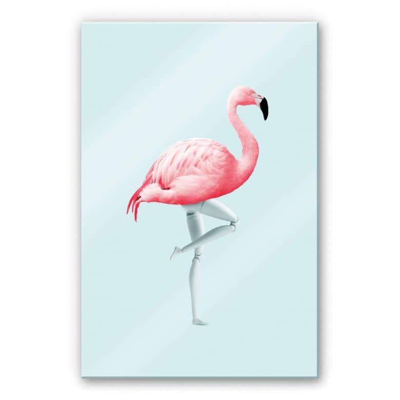 Acrylglasbild Loose - Flamingo Mannequin