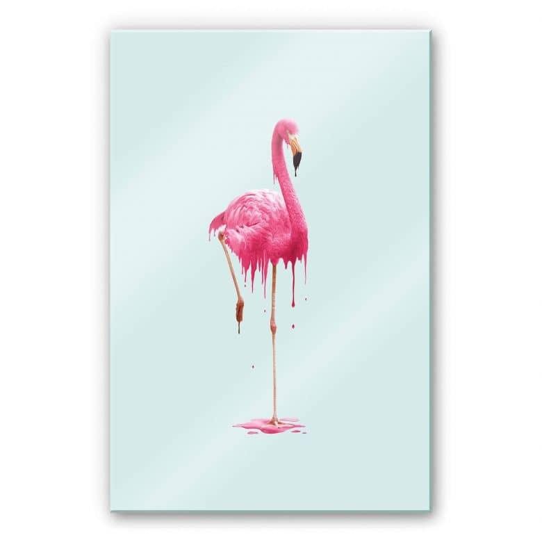 Acrylglasbild Loose - Melting Flamingo