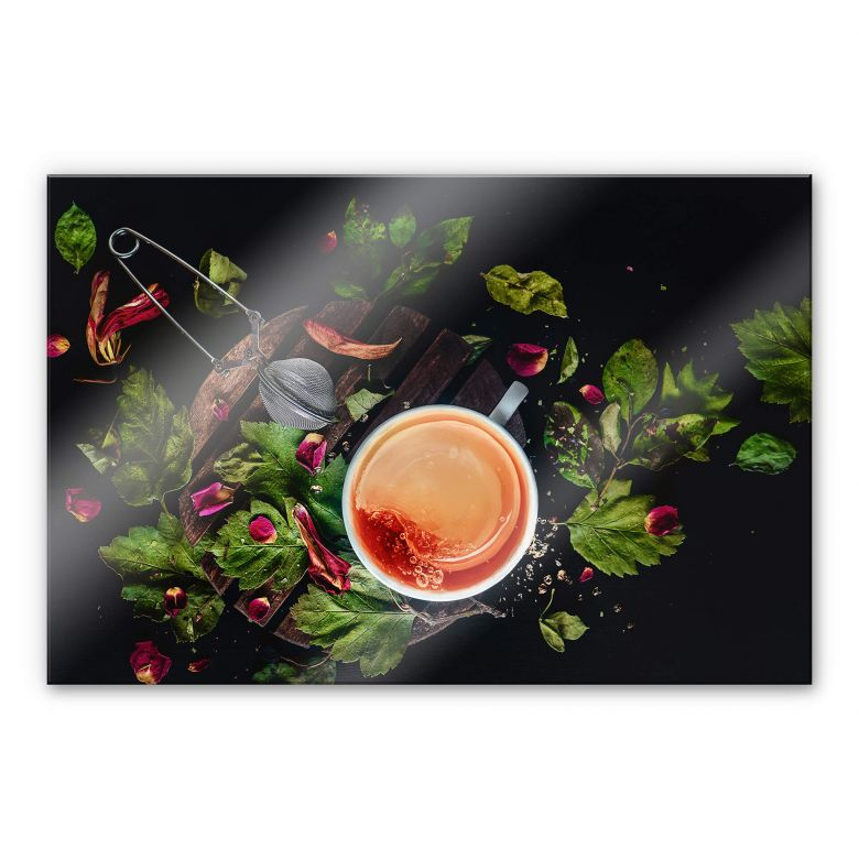 Acrylglasbild Belenko - Tea Lover