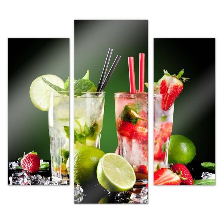Tableau en verre acrylique - Cocktail Hour (3 parties)