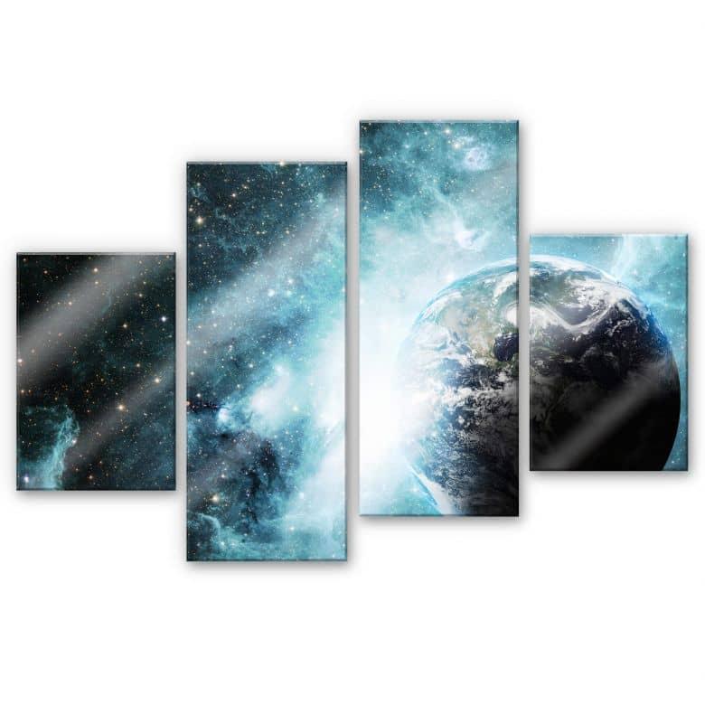 Acrylglasbild In einer fernen Galaxie (4-teilig)